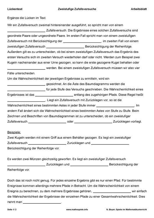 Datei:Lueckentext-Zufallsversuch-Arbeitsblatt.pdf – mathespiele